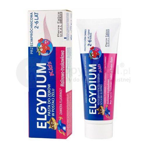ELGYDIUM Kids pasta dla dzieci do zębów mlecznych o smaku malinowo-truskawkowym 50ml