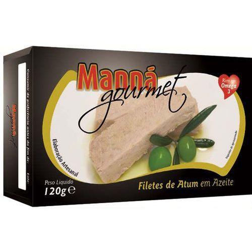 Portugalskie filety z tuńczyka w oliwie extra virgin 120g Manná GOURMET