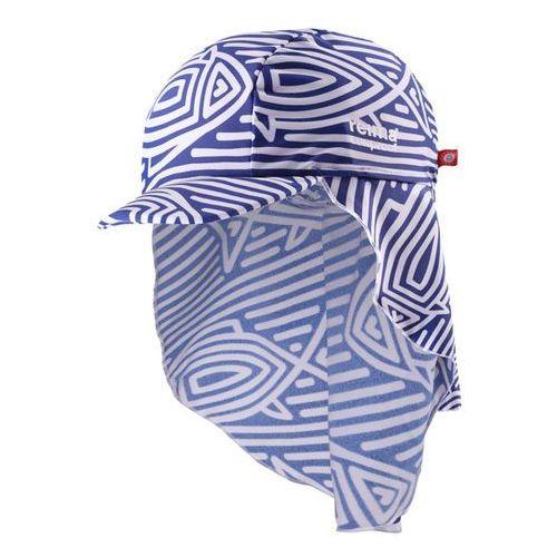 Reima Czapka  do kąpieli uv vesikko osłona karku niebiesko/ biały wzór (6416134640342)