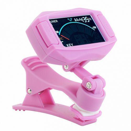 ct8 pink tuner chromatyczny clips, różowy marki Rocktuner