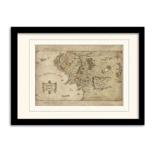 Hobbit - mapa śródziemia w ramce (mp10452p) marki Goods.pl