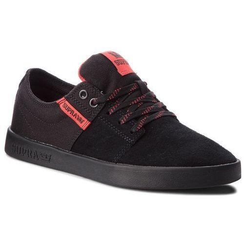 Sneakersy SUPRA - Stacks II 08183-012-M Black/Risk Red/Black
