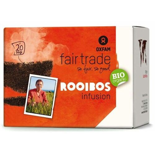 Oxfam fair trade dystrybutor: bio planet s.a., wilkowa wieś 7, 05-084 Herbatka rooibos infusion fair trade bio (20 x 1,5 g) 30 g - oxfam (5400164137065)