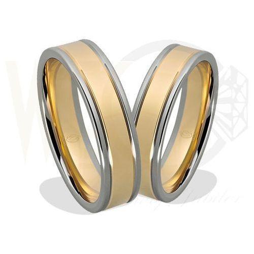 Para obrączek z żółtego i białego złota palladowego ŁN-22ZB - ok. 1,5 mm - oferta [055bed0e81e2c5d4]