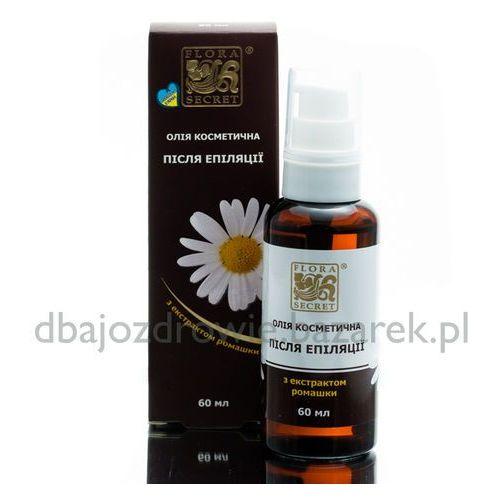 Olejek do pielęgnacji skóry po depilacji i woskowaniu, 100% naturalny marki Flora secret
