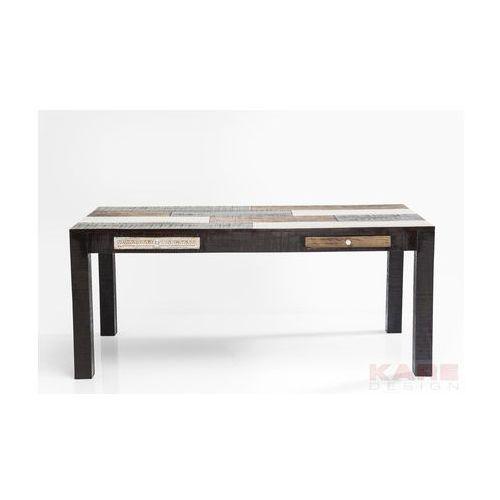 Kare Design Finca Stół Wielokolorowy Drewno Mango 2 Szuflady 180 cm x 90 cm - 79485 - produkt dostępny w sfmeble.pl