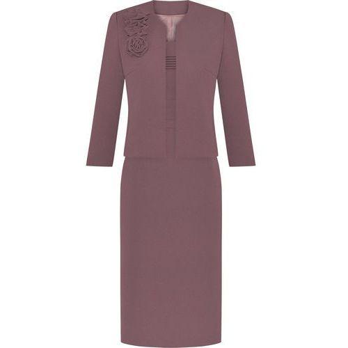 Kostium damski Izolda VIII, klasyczny komplet z eleganckiej tkaniny. - Izolda VII - produkt z kategorii- garsonki i kostiumy