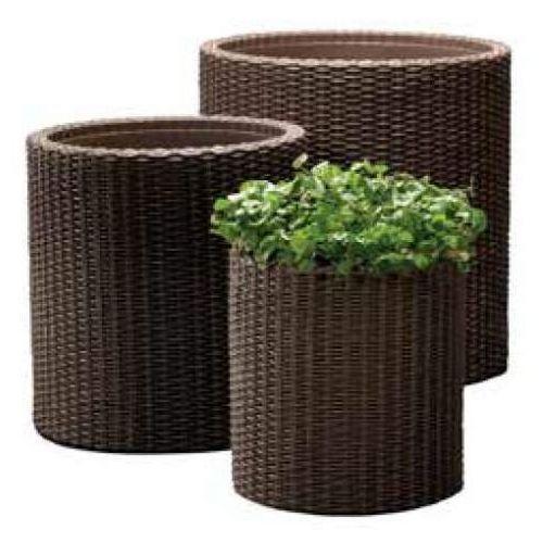 Doniczka cylinder planter brązowy marki Keter