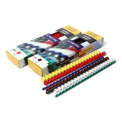 Grzbiety do bindowania plastikowe, białe, 6 mm, 100 sztuk, 25 kartek - Super Ceny - Rabaty - Autoryzowana dystrybucja - Szybka dostawa - Hurt