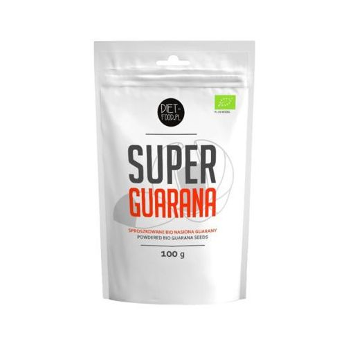 Diet food 100g super guarana sproszkowane bio nasiona guarany marki Diet-food