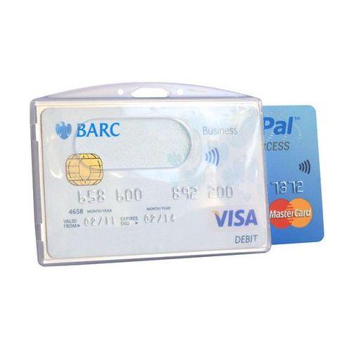 ✅ podwójny holder na karty zbliżeniowe rfid plastik przeźroczysty marki Koruma®