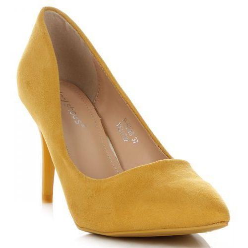 0e45cf4f30a84 Uniwersalne szpilki damskie na każdą okazję marki żółte (kolory) marki  Ideal shoes 89,00 zł Uniwersalne szpilki Ideal Shoes tworzą nietuzinkowy  pakiet z ...