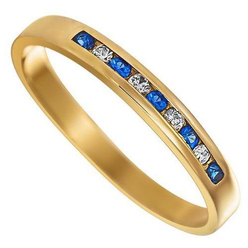 Pierścionek z szafirami i brylantami 0,06ct - PK/018c, marki Świat Złota do zakupu w Świat Złota