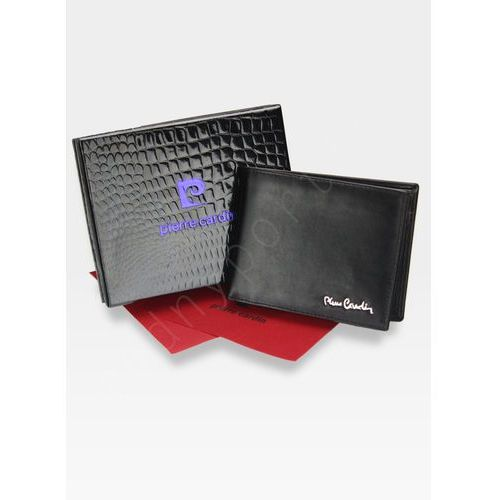 8ba5d6c5cfd33 Portfel poziomy męski skórzany czarny tilak06 8806 pudełko ochrona rfid -  czarny marki Pierre cardin 95