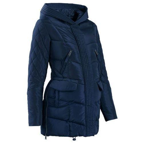 Płaszcz ciążowy pikowany z regulacją obwodu ciemnoniebieski, Bonprix, 34-52