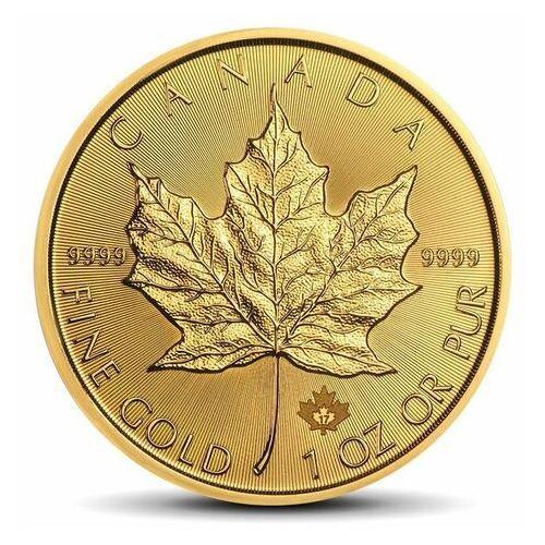 Royal canadian mint Moneta kanadyjski liść klonowy 1 uncja złota