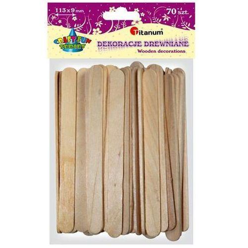 Titanum Patyczki dekoracyjne drewniane 70 sztuk, craft-fun - naturalne (5907437666371)
