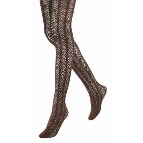 Rajstopy bawełniane Rosalia Brown, kolor brązowy