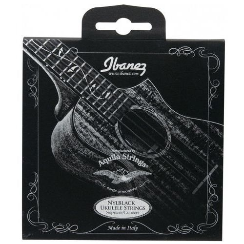 nbuks 4 struny do ukulele black nylon, sopran, koncert marki Ibanez