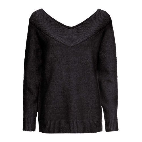 Bonprix Sweter bez zapięcia z nitką lateksową biel wełny - pastelowy jasnoróżowy - srebrny - dymny szary