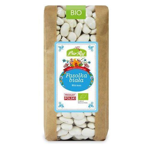Fasolka biała bio 500 g - bio raj marki Bio raj (konfekcjonowane)