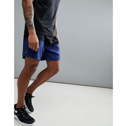 New Look SPORT Shorts With Colour Blocking In Black And Navy - Navy