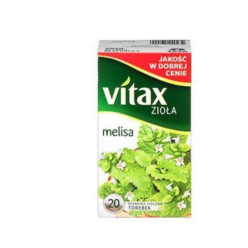Herbata VITAX MELISA 20t*1,5g ziołowa bez zawieszki