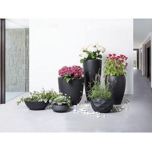 Doniczka czarna - donica na balkon - ogrodowa - 46x46x16 cm - MURITZ (7081456225868)