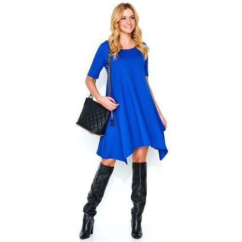 Makadamia sukienka damska 40 niebieska (5902041684117)