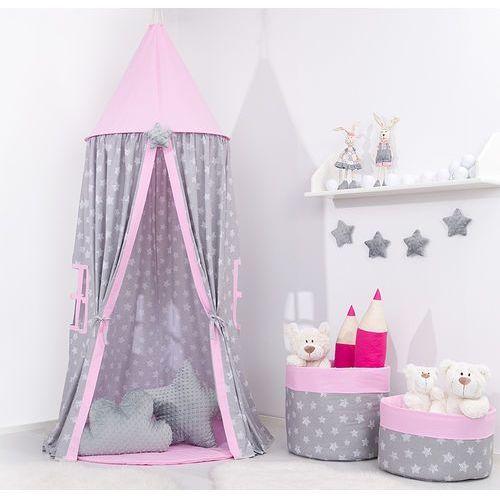 Namiot wiszący dla dzieci Gwiazdy bąbelkowe duże / jasny roz