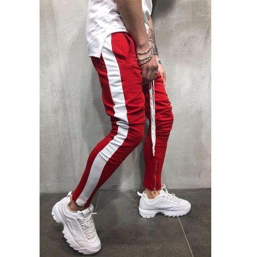 Spodnie męskie HENRY RED, kolor czerwony