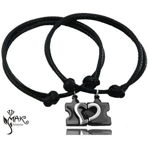 Mak-biżuteria Br679 małe puzzle bransoletki dla par grawerunek