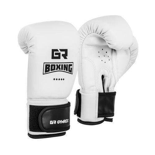 Gymrex Rękawice bokserskie dla dzieci - białe - 4 oz