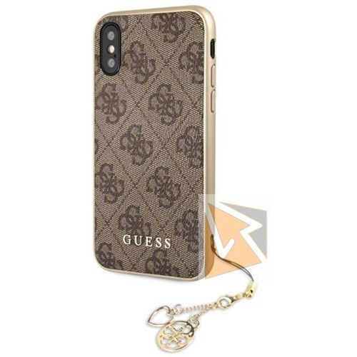 Guess etui hardcase guhcpxgf4gbr iphone x brązowy 4g charms collection (3700740434215)