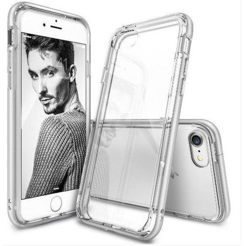 Rearth / perfect glass Zestaw | rearth ringke frame ice silver | obudowa + szkło ochronne perfect glass dla modelu apple iphone 7