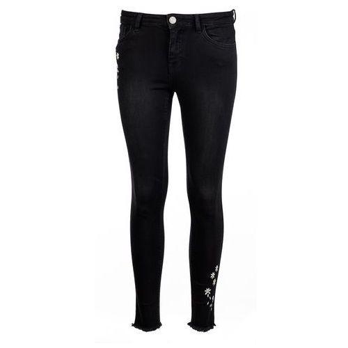 Desigual jeansy damskie 30 czarny, bawełna