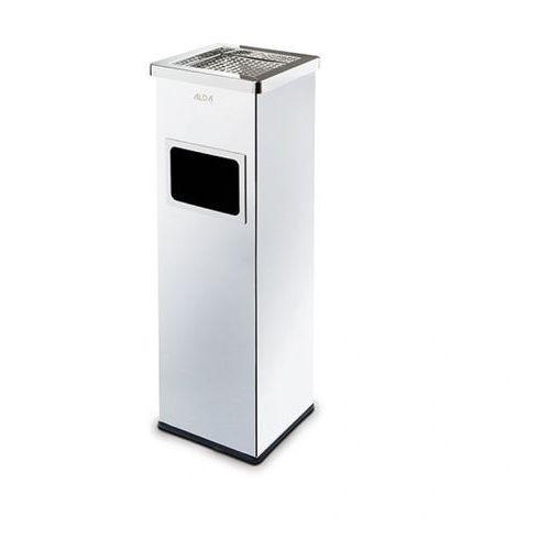 Alda Kosz na śmieci z popielniczką i wewnętrznym pojemnikiem 22l, nierdzewny błyszczący (5907514304516)