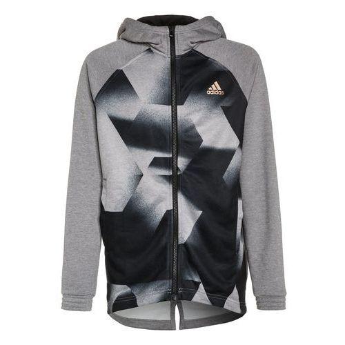 adidas Performance DISTRICT Kurtka sportowa medium grey heather/black/copper metallic, MGT30