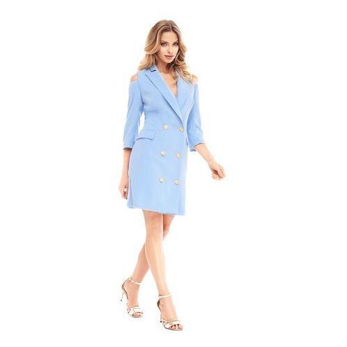 Sukienka Marigold w kolorze błękitnym, kolor niebieski