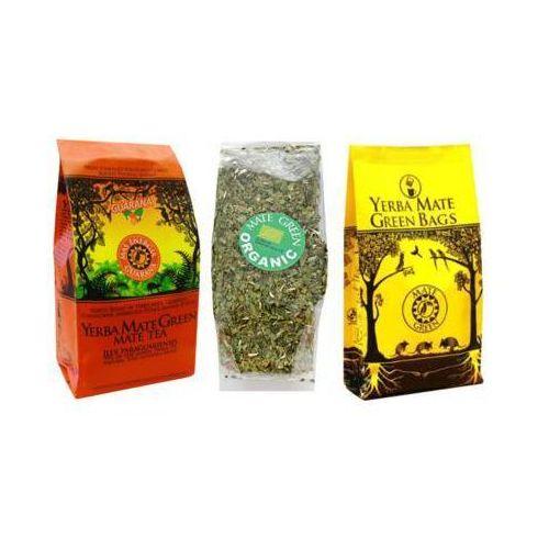 Yerba mate green Zestaw mas energia guarana 400g + organic bio 50g + cocido big bag despalada 7 saszetek