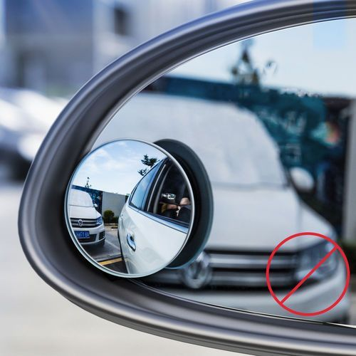 Baseus Full-view Blind-spot Mirror 2x dodatkowe samochodowe lusterko boczne wypukłe martwe pole punkt czarny (ACMDJ-01)