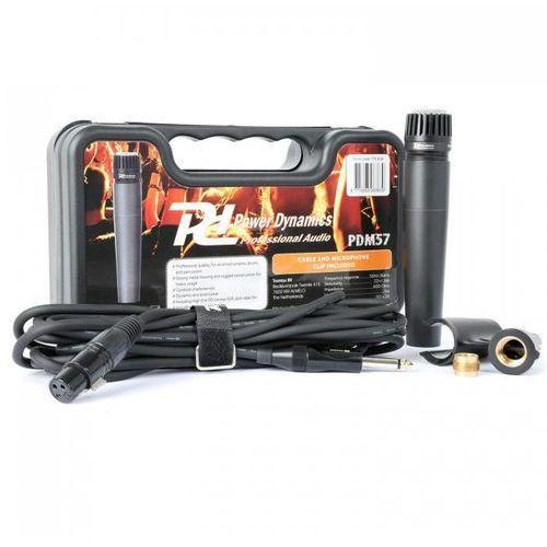 Power dynamics Pdm57 mikrofon dynamiczny xlr z kablem uchwyt adapter (8715693283839)