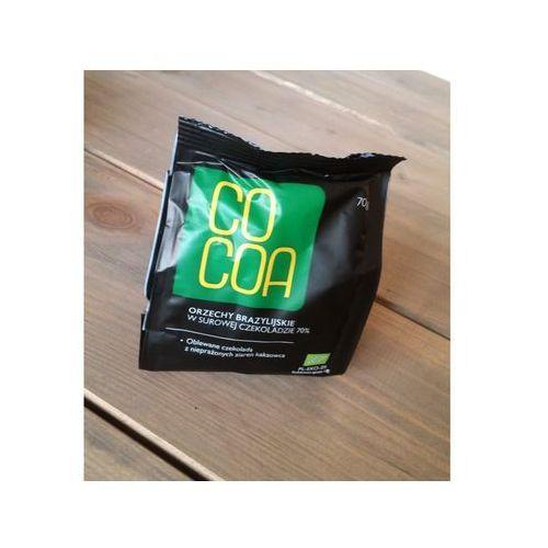 Orzechy brazylijskie w surowej czekoladzie bio 70g - marki Cocoa