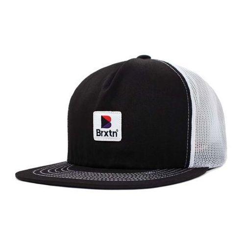 Brixton Czapka z daszkiem - stowell hp mesh cap black/white (bkwht) rozmiar: os
