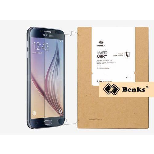 Samsung galaxy s6 - szkło hartowane okr+ pro - białe marki Benks