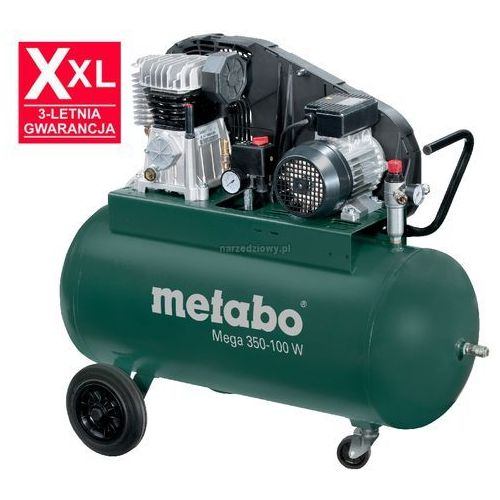 METABO Sprężarka tłokowa Mega 350-100 W - prąd jednofazowy TRANSPORT GRATIS !