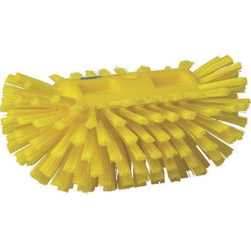 Szczotka do czyszczenia okrągłych zbiorników, twarda, żółta, 205 mm, VIKAN 70376 - sprawdź w Gastrosilesia