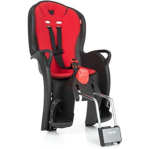 Fotelik rowerowy Hamax Sleepy czarny, czerwona wyściółka, kolor czerwony
