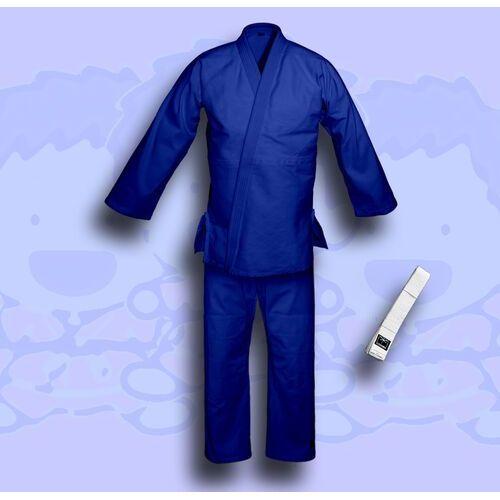 kimono do judo TONBO - JUNIOR, niebieskie, 350g/m2 (z białym pasem), ZJBBL350
