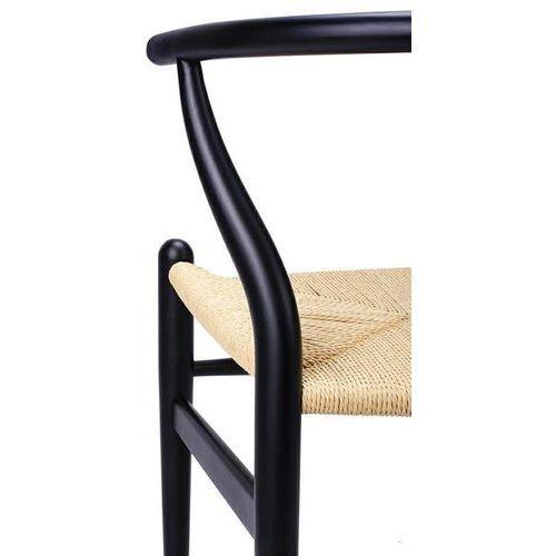 Krzesło WISHBONE czarne - drewno bukowe, naturalne włókno, DC-541.DARK (7812182)